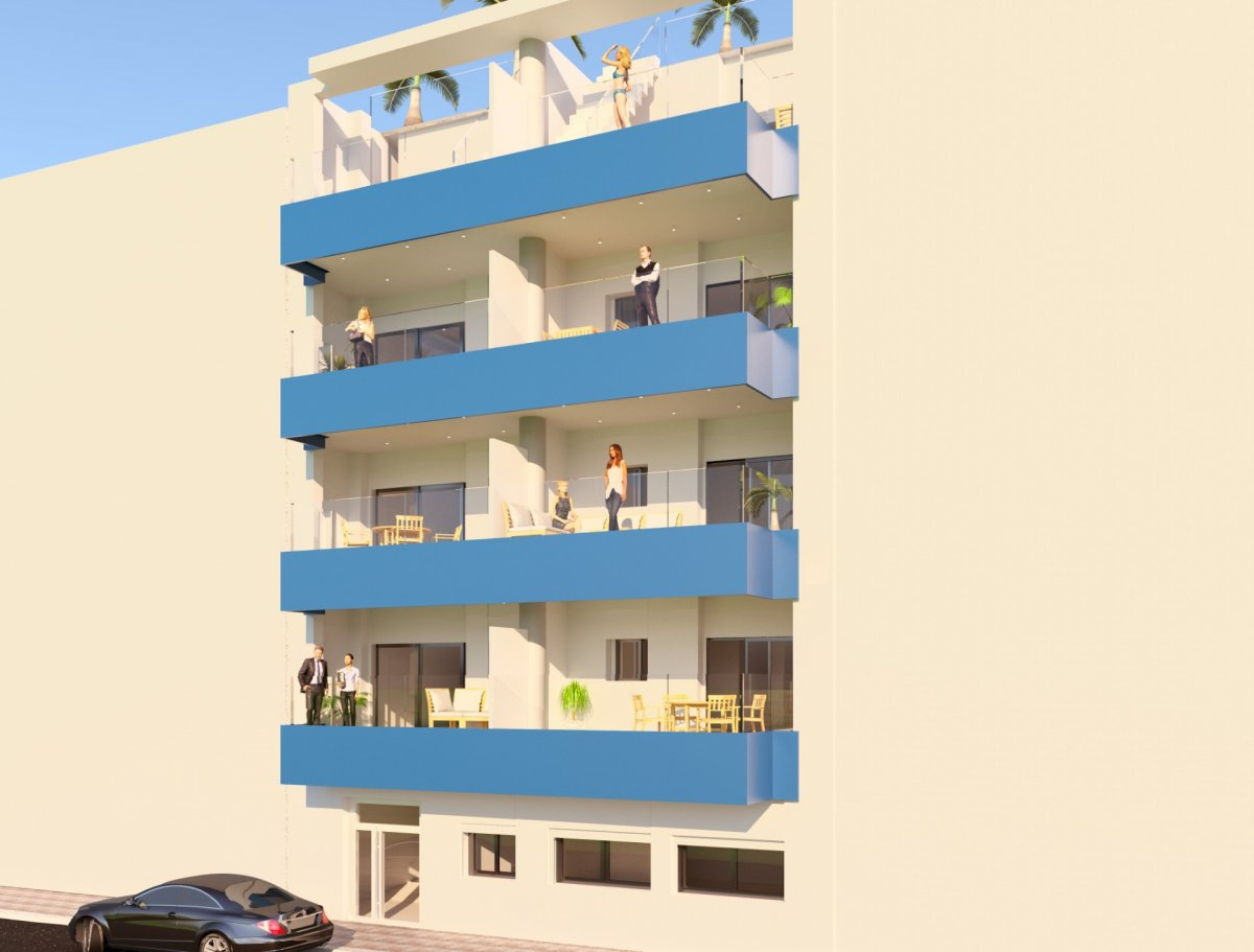 APARTMENTS IN A NEW HOUSE 100 METERS FROM THE BEACH. TREE BEDROOM-PRICE FROM 155,900 EUR